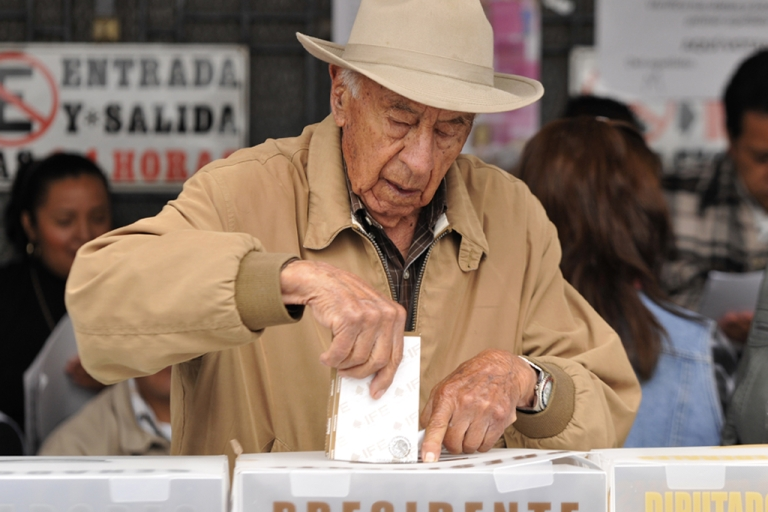 <p>Mexicans vote for president, governors, mayors and lawmakers on July 1.</p>