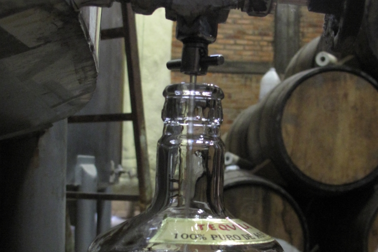 <p>Fine as wine, top-quality tequila pours from a barrel at the Sangre de Azteca distillery in Jalisco, Mexico.</p>