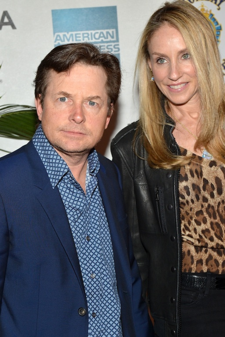 <p>Michael J. Fox and his wife, Tracy Pollan, attend Marvel's