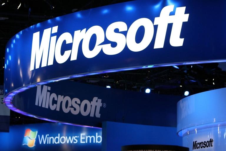 <p>The Microsoft logo.</p>