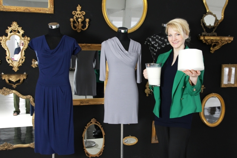 <p>Anka Domaske with her creations.</p>