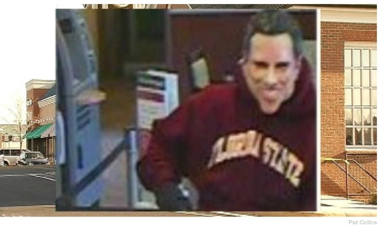 <p>A man in a Mitt Romney mask robbed a Wells Fargo bank in Virginia. It's the same bank that was held up two years ago by a robber posing as Hillary Clinton.</p>