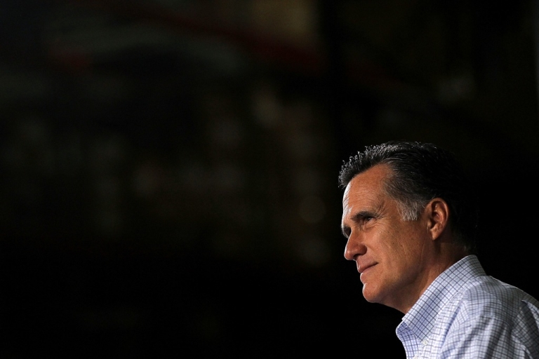 <p>Republican presidential candidate, former Massachusetts Gov. Mitt Romney attends a town hall style meeting at Moore Oil on April 2, 2012 in Milwaukee, Wisconsin. With one day to go before the Wisconsin primary, Mitt Romney makes a final push through the state</p>