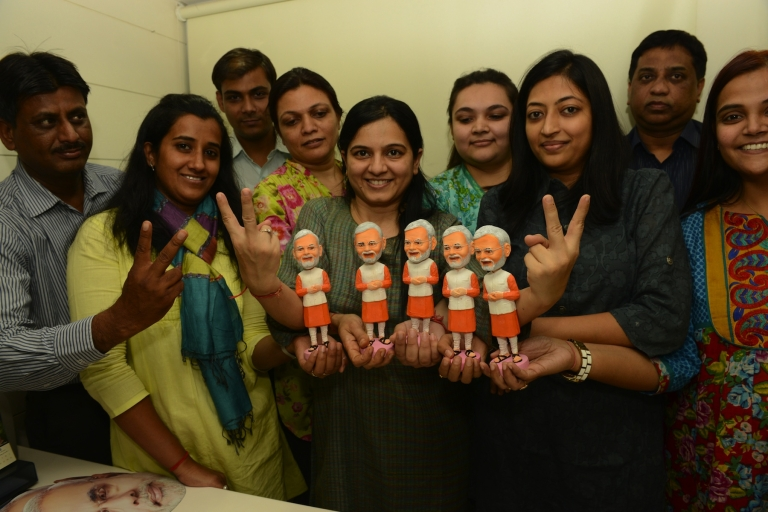 <p>Left-leaning social activists call him a fascist. But Gujarat Chief Minister Narendra Modi may be the only Indian politician popular enough to warrant his own bobblehead doll.</p>