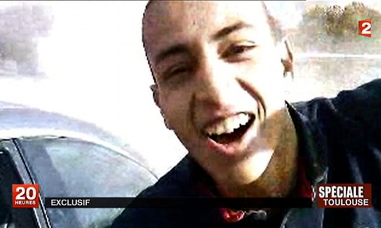<p>This screengrab from France 2 television shows an image of Mohammed Merah. The video was reportedly filmed by Merah's friends a year and a half ago in the suburbs of Toulouse.</p>