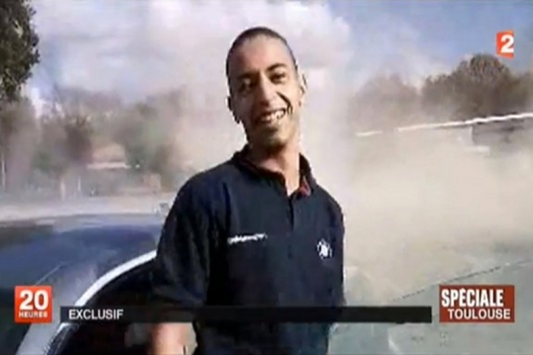 <p>This screengrab from France 2 television shows an image of Mohammed Merah.</p>