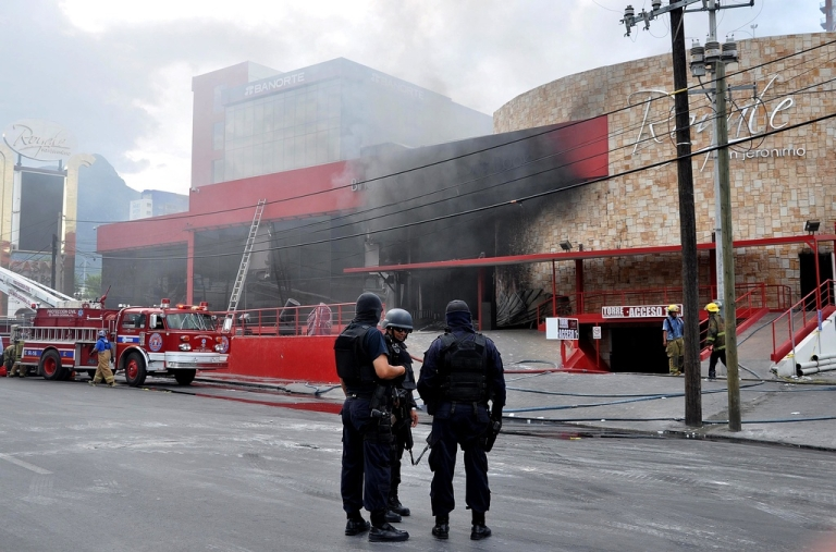 <p>The Casino Royale after the attack.</p>