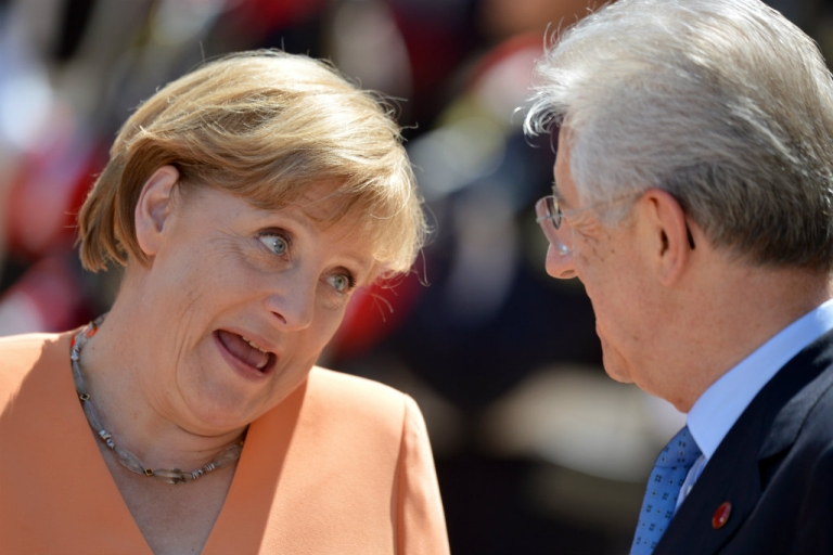 <p>Italian Prime Minister Mario Monti hosts talks with German Chancellor Angela Merkel on tackling the debt crisis sweeping the eurozone. In a recent interview, Monti accused Germany of