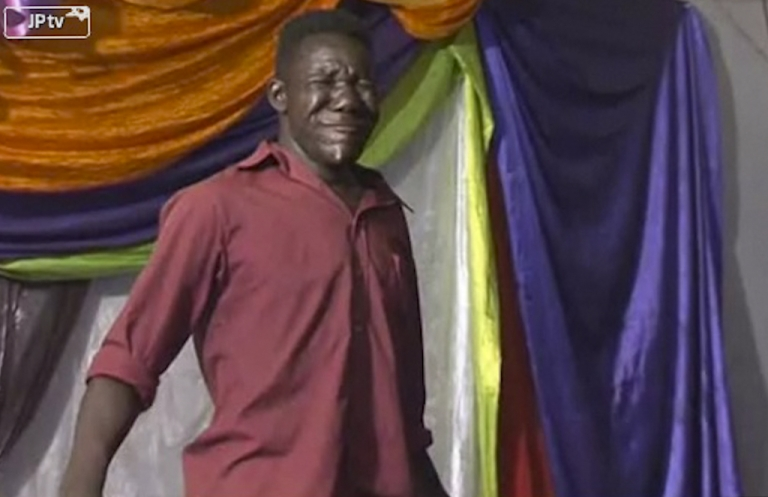 <p>Zimbabwe's William Masvinu was crowned Mr. Ugly Harare 2012.</p>