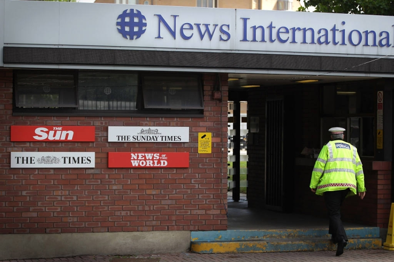 <p>Rupert Murdoch is said to be considering splitting off News Corp.'s newspaper and publishing businesses from its larger, more profitable film and TV assets.</p>