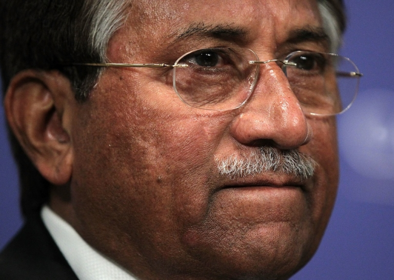 <p>Former Pakistan President Pervez Musharraf prior to speaking at The Carnegie Endowment for International Peace October 26, 2011 in Washington, DC.</p>