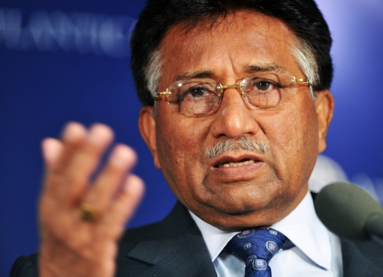 <p>Former Pakistani President Pervez Musharraf speaks during a discussion on 'US-Pakistan Relations' organized by the Atlantic Council's South Asia Center in Washington, DC, on November 10, 2010.</p>
