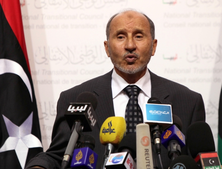 <p>Mustafa Abdel Jalil, head of the governing National Transitional Council, said civic leaders in the eastern Cyrenaica region