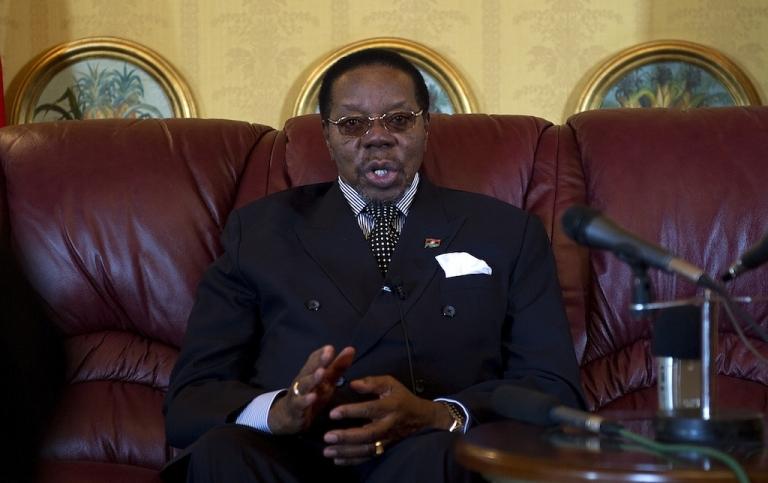 <p>President Bingu wa Mutharika in Malawi's capital Lilongwe in July 2011.</p>