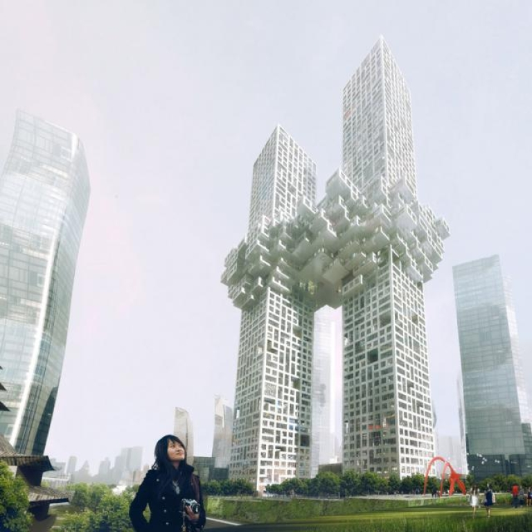 <p>Preview of planned architectural project in Seoul by Dutch architectural firm MVRDV.</p>