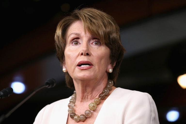 <p>House Minority Leader Nancy Pelosi (D-CA) holds her weekly news conference in the Visitors Center at the U.S. Capitol July 26, 2012 in Washington, DC.  Kevin Michael Hagan, 21, is suspected of robbing the congresswoman's house this week.</p>
