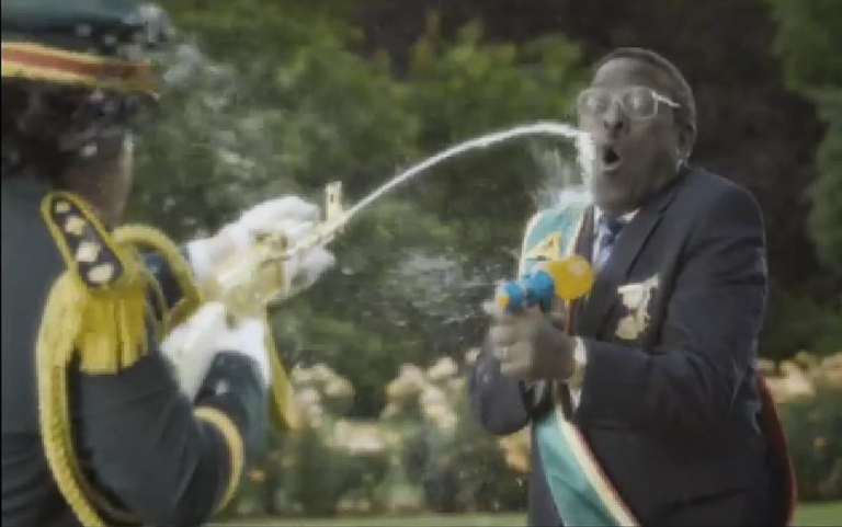 <p>A group of militant youth loyal to Zimbabwe's President Robert Mugabe have called for a boycott of Nando's restaurants after the fast-food chain released a commercial called the