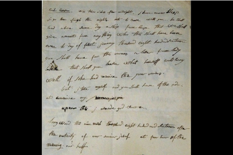 <p>The one-page letter is dated Mar. 9 1816 and was sent by Napoleon from exile in Saint Helena to his English teacher.</p>