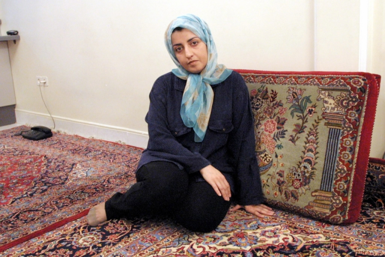 <p>A September 4, 2001 photo of Narges Mohammadi.</p>