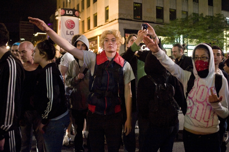 <p>Students protest in Montreal on June 8, 2012. Students protested against university tuition fee increases and Law 78, a measure passed last week requiring activists to notify police ahead of demonstrations.</p>