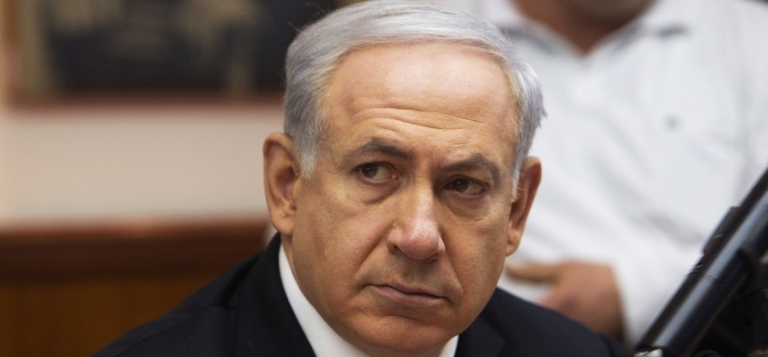 <p>Israeli Prime Minister Benjamin Netanyahu presides over his weekly cabinet meeting on March 11, 2012 in Jerusalem.</p>
