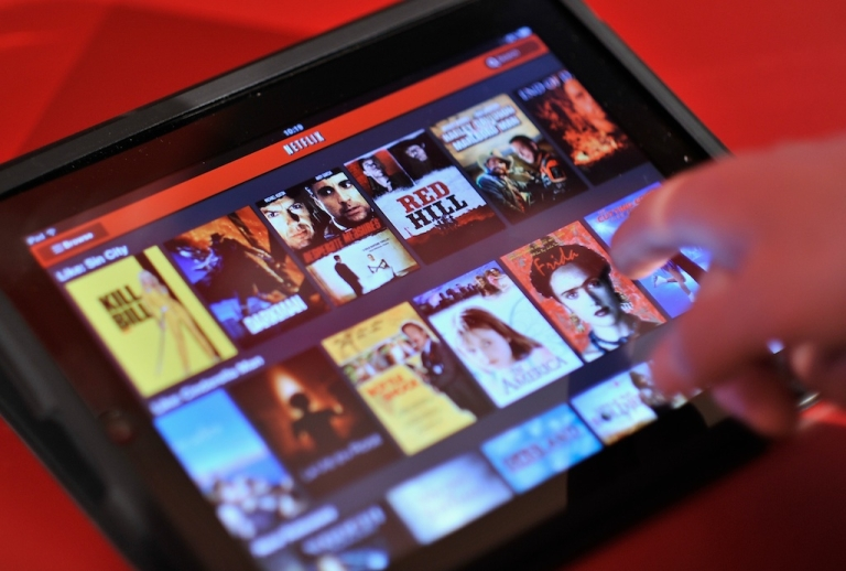 <p>An Apple iPad is used to view Netflix during the Netflix UK launch in London, England on January 9, 2012.</p>