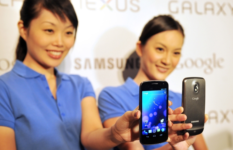 <p>The new Android, with Ice Cream Sandwich software, was introduced in October as the iPhone 4S's latest competition.</p>