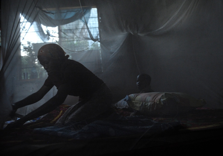 <p>A mother and child sit under a mosquito net in Tanzania, one of the countries where the pioneering RTS,S vaccine was tested.</p>