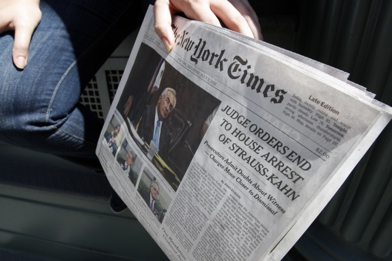 <p>The New York Times website and email services crashed for much of Aug. 14, 2013.</p>