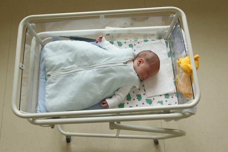 <p>Police say the newborn was wrapped in towels and sheets and appears to be healthy.</p>