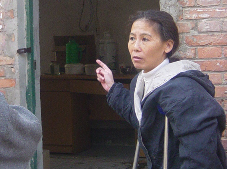 <p>An undated photo of Ni Yulan, who claims she was left unable to walk unaided after severe police beatings.</p>