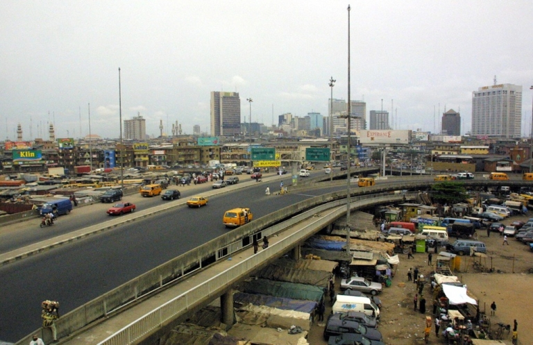 <p>Skyscrapers dot the skyline of the Nigerian capital of Lagos.</p>