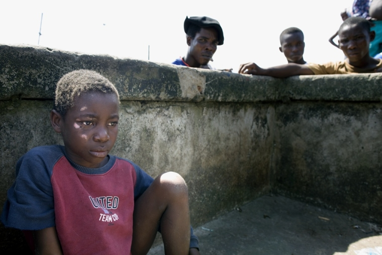 <p>Many children are abandoned, tortured and killed because they are said to be witches. Here is an abandoned, maltreated and wounded boy living as a child-witch on the streets of the small fishing village Ibaka in the Niger Delta.</p>