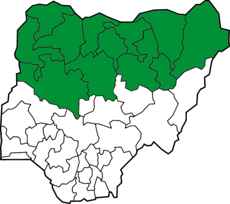 <p>The green states on this map in Nigeria recognize Islamic Sharia law, while the white states in the mostly-Christian south are governed by secular law.  Islamic militant group Boko Haram is believed to have killed as many as 600 people since 2011, in an effort to implement Sharia law in the entire nation.</p>