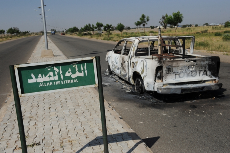 <p>In November, a police patrol pick-up truck in Damaturu was struck by a bomb that the Islamist group, Boko Haram, claimed responsibility for attacking.</p>