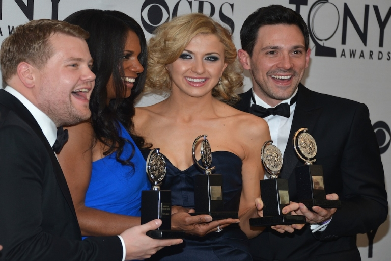 <p>Nina Arianda, center-right, won Best Performance by a Leading Actress in a Play for Venus in Fur, and will now play Janis Joplin in an upcoming film.</p>