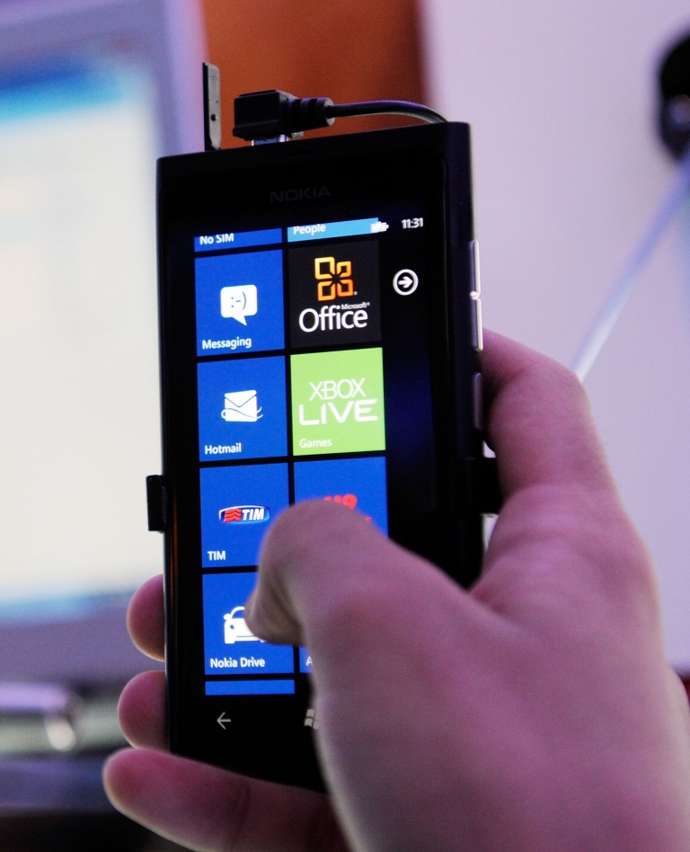 <p>Nokia launched its first two Windows-based smartphones, the Lumia 800 (pictured) and Lumia 710, in October, which it hopes will enable it to gain ground on competitors like Apple's iPhone and Google's Android-based phones.</p>