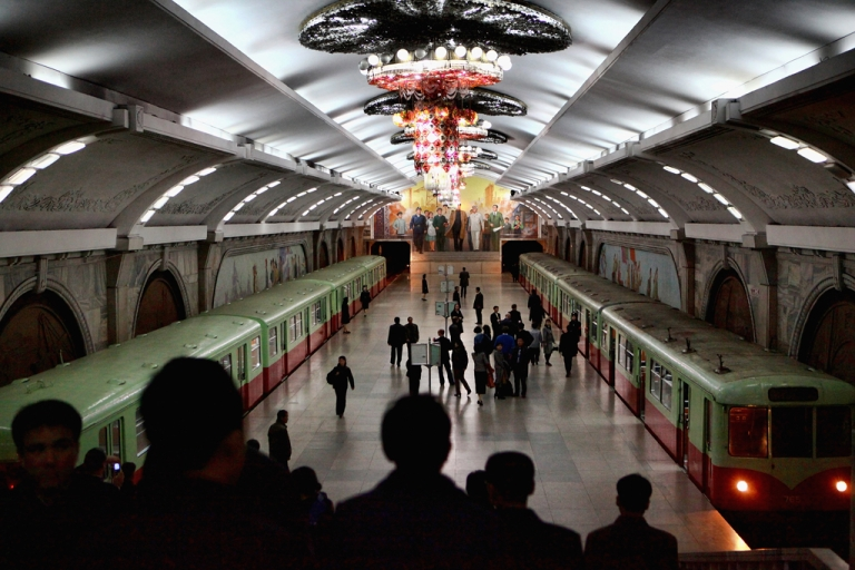 <p>Puhung Subway station is also an atomic shelter, April 2, 2011 in Pyongyang, North Korea.</p>