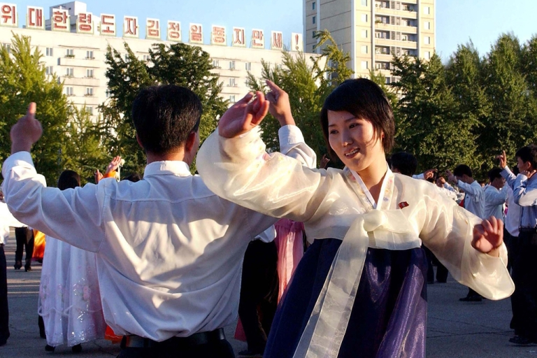 <p>North Koreans celebrate the re-election of Kim Jong Il to his post as general secretary of the Workers' Party on Sept. 28, 2010 in Pyongyang.</p>