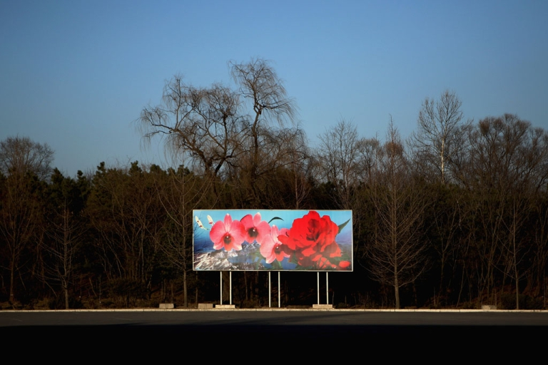 <p>The picture of Kim Il Sung flower is seen on the street on April 3, 2011 in Pyongyang, North Korea.</p>