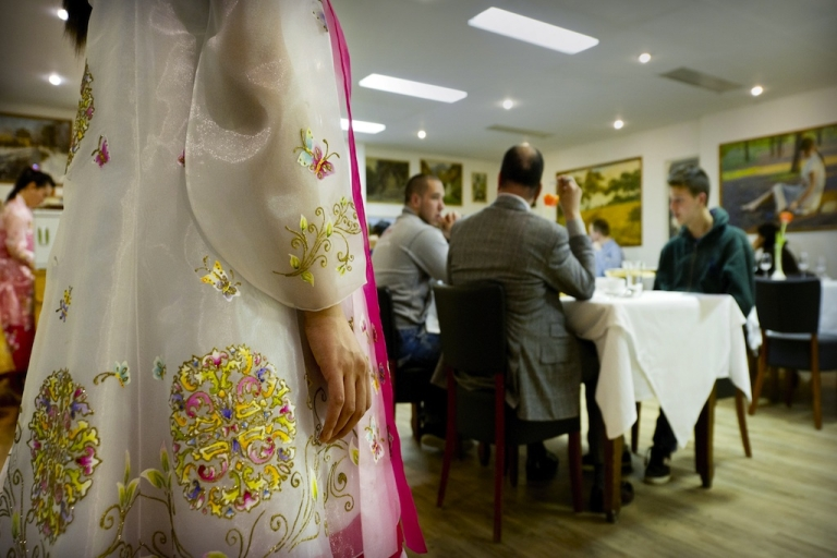 <p>There's a chance that waitresses in North Korea are eavesdropping on foreigners while they dine.</p>
