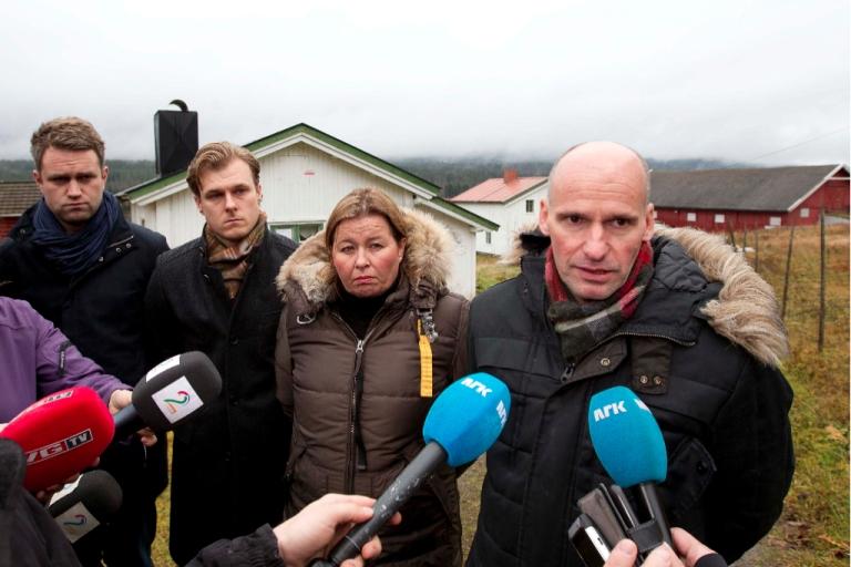 <p>Breivik's defense attorney Geir Lippestad (R), flanked by attorneys (FromL) Odd Ivar Groen, Tord Jordet and Vibeke Hein Baera at Breivik's farm, during a recent inspection.</p>