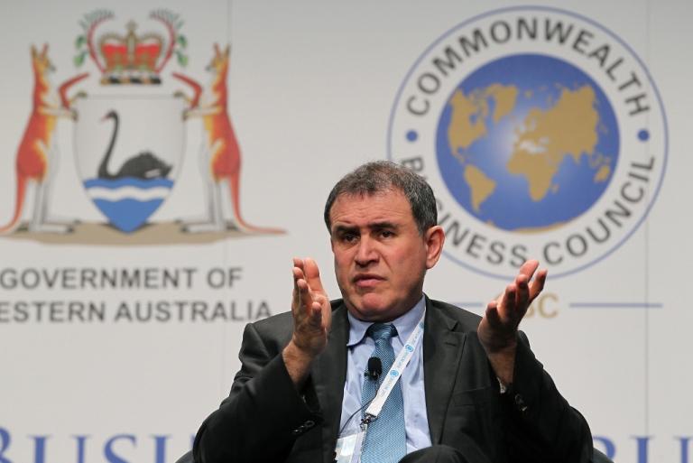 <p>Economist Nouriel Roubini Oct. 25, 2011 in Perth, Australia.</p>