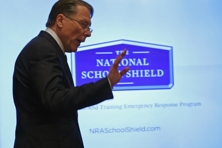 <p>NRA chief Wayne LaPierre has said that the Washington Navy Yard needed to be more protected, namely more armed security, to have prevented the recent mass shooting.</p>