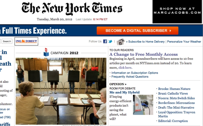 <p>The New York Times is launching a Chinese language site.</p>