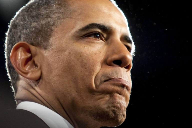 <p>U.S. President Barack Obama speaks to the American Israel Public Affairs Committee (AIPAC) on May 22, 2011 in Washington, DC. Obama spoke to AIPAC calling for Israelis and Palestinians to seek a two-state solution based on the 1967 borders.</p>