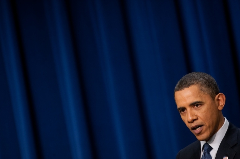 <p>U.S. President Barack Obama gives a press conference at the White House in Washington on March 11, 2011.</p>