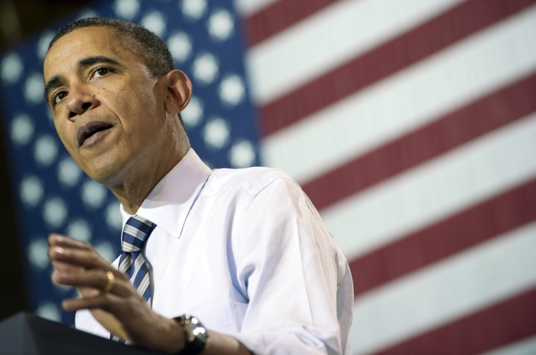 <p>Obama speaks about the economy at an appearance in Wisconsin.</p>