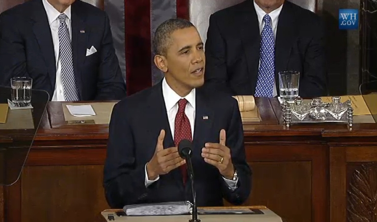 <p>US President Barack Obama addresses the nation on Jan. 24, 2012.</p>