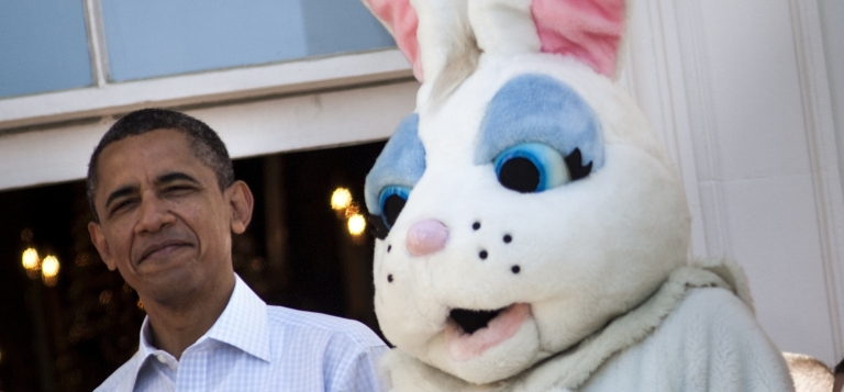 <p>Did the Easter Bunny steal the show? It seemed to grab more attention than another White House visitor this week, Brazilian President Dilma Rousseff.</p>